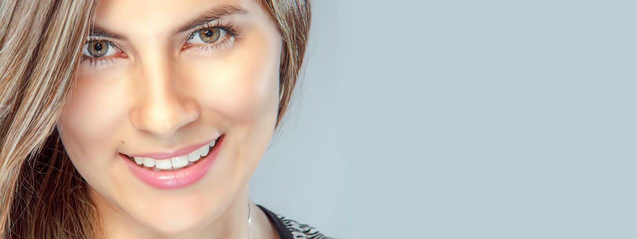 Woman Smiling Pretty Eyes 1280x480